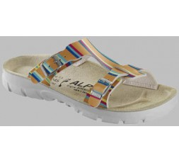 P 100 - Rainbow Stripes Orange - 41 - Soft Fußbett